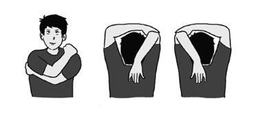 Latihan kelenturan statis bahu