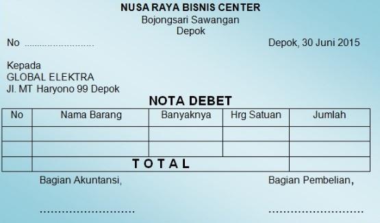 nota debit