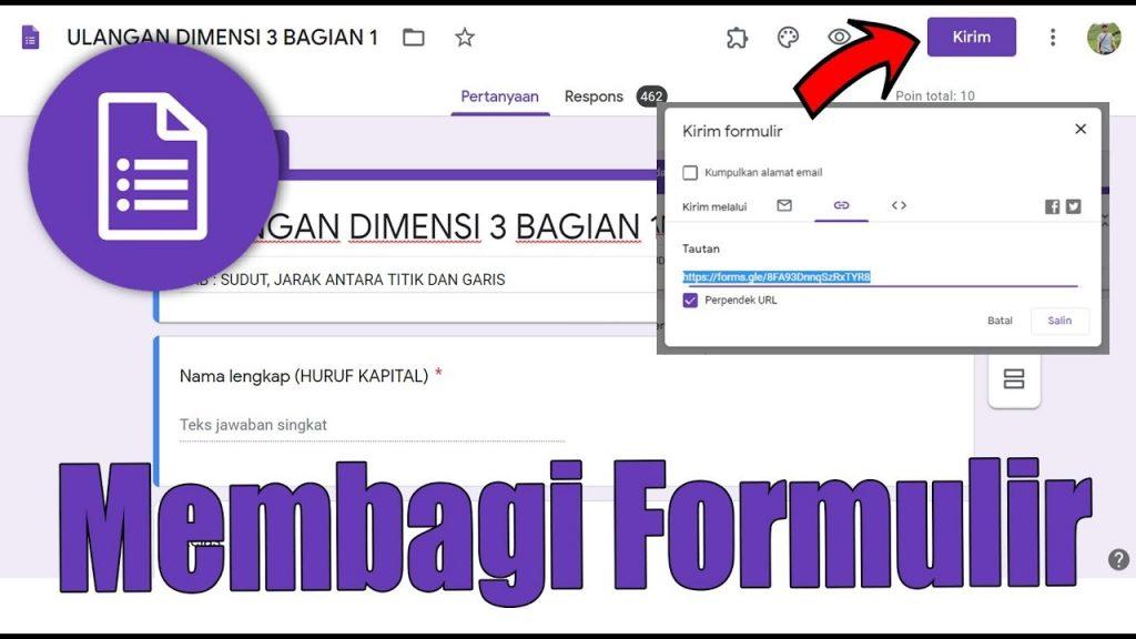 membagikan link google form