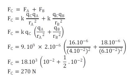 Contoh Soal 1 Hukum Coulomb