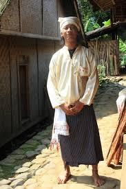pakaian adat baduy laki dalam