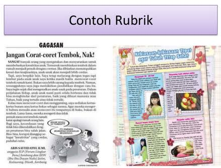 Contoh Rubrik 1