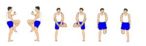Melatih persendian lutut