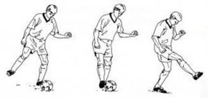 Mengoper Bola dengan Kaki Bagian Dalam
