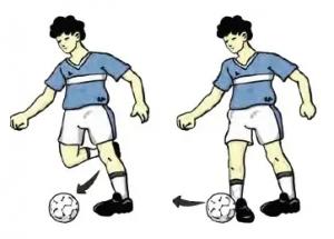 Mengoper Bola dengan Kaki Bagian Luar