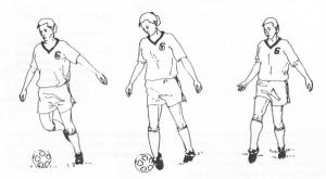 Mengoper Bola dengan Punggung Kaki/Kura-Kura Kaki