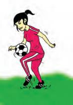 Mengontrol Bola Menggunakan Paha