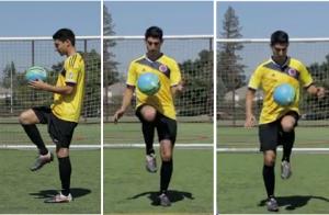 Juggling dengan Menggunakan Lutut