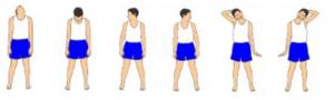Gerakan melatih persendian leher